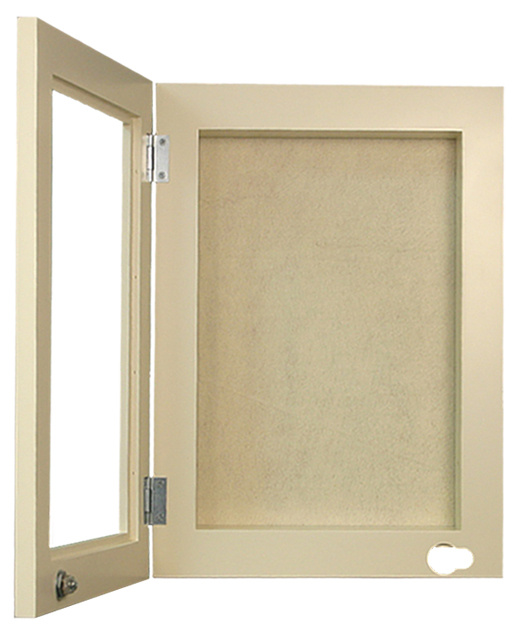 recessed in wall memory box with hinged door