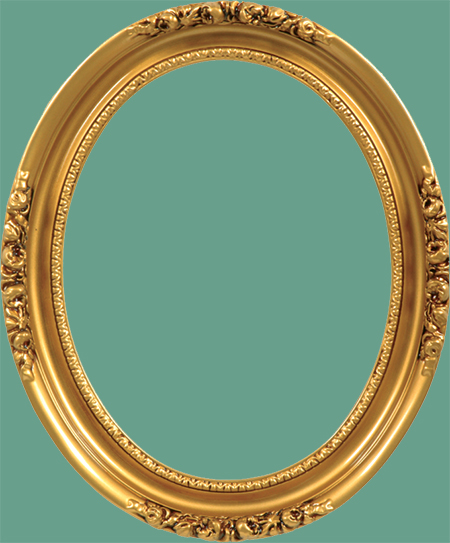 ov 19 antique gold with raised floral quarters oval frame