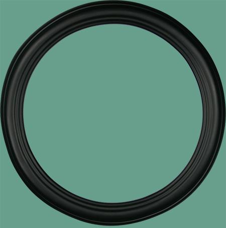 rd 22 classic black round frame