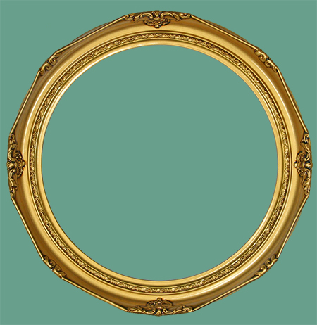 Rd 14 Victorian Antique Gold Round Frame View Images